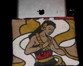 Made to Order- iPad Sleeve with Zipper - Recycled Kona Coffee Bag