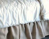 Burlap Bed Skirt Twin and Full