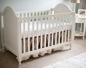 Ruffle Burlap Crib Skirt