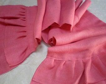 Pink Burlap Table Runner