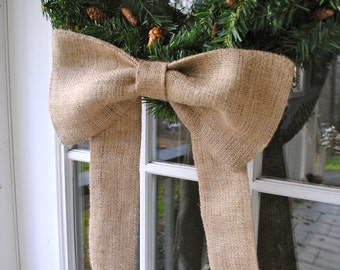 Burlap Bows Set of 3