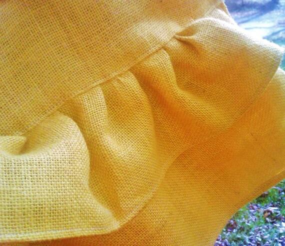 Yellow Burlap Table Runner