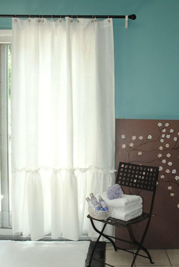 Linen Shower Curtain