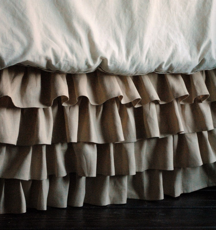 bed skirts queen ruffles linen bed skirt for or king by paulaanderika 10699