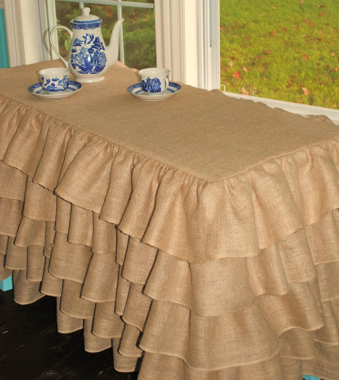 Ruffled Burlap Tablecloth Ruffled Tablecloth