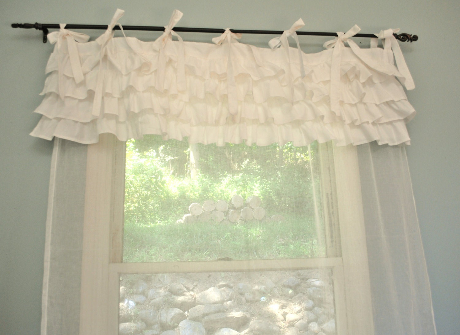 Shabby chic bedroom curtains - Camere da letto stile shabby chic ...