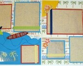 HAWAII 12 X 12 premade 2 page scrapbook layout