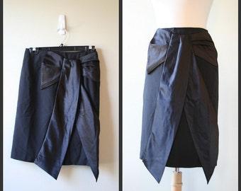 Vintage 1980s Gunne Sax black evening skirt