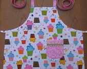 RESERVED FOR JEAN- Cupcake Cutie- Child Apron (size 6)