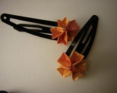 Pair of Origami Sakura Hair Clip Barrettes