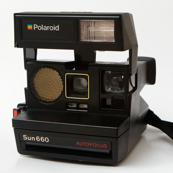 polaroid sun 660 autofocus instant 600 film camera. Black Bedroom Furniture Sets. Home Design Ideas