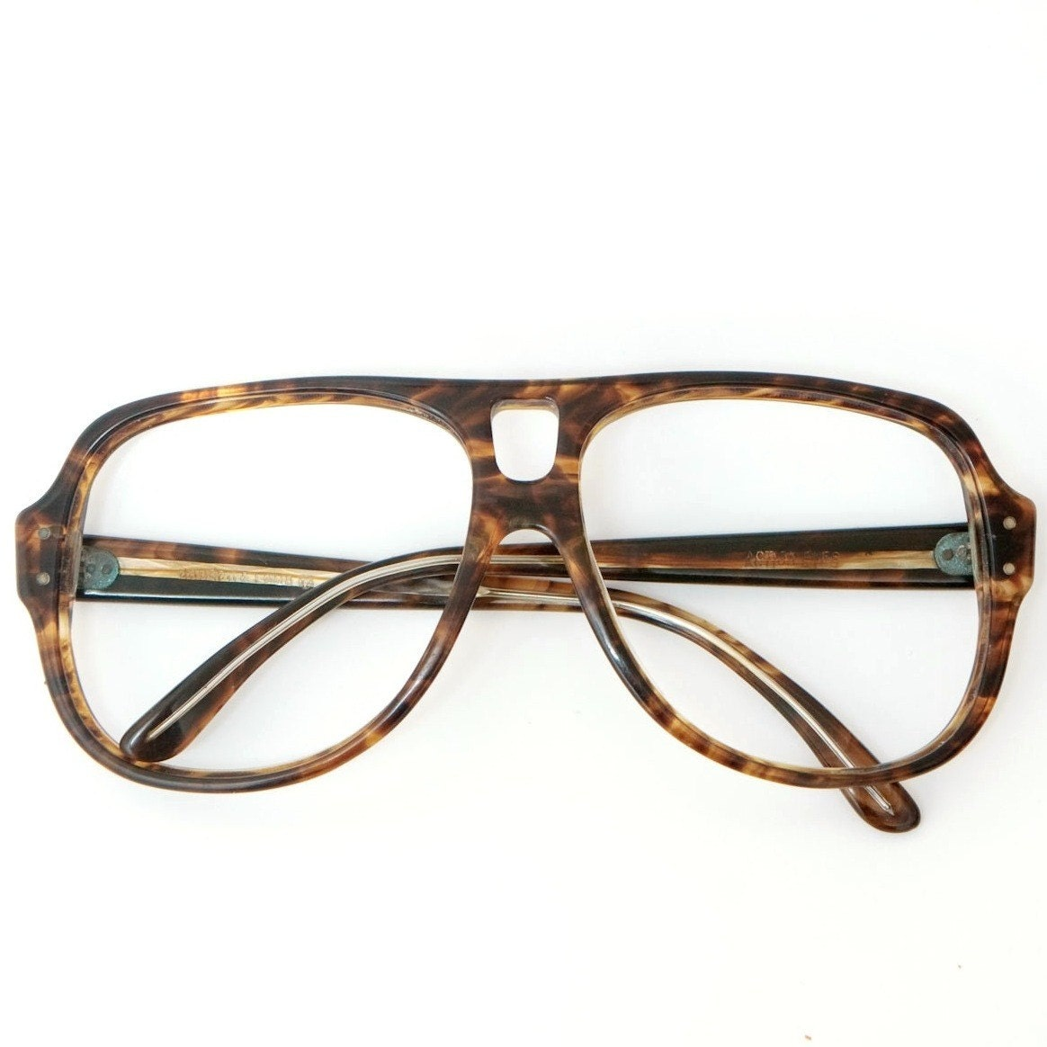 Big Frame Aviator Glasses : Big 70s Aviator Glasses Frames Bausch and Lomb / BL