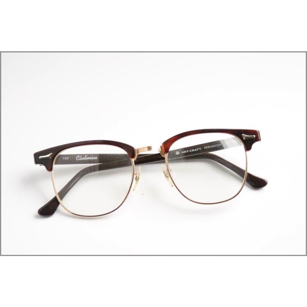 Art-Craft Clubman Amber Eyeglasses Frame G-Man 51-22