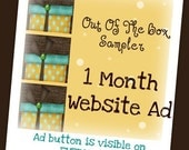 1 Month Advertising Spot at Out Of The Box Sampler