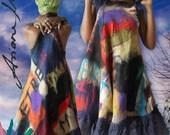 Custom made fiber art women dress - convertible women clothing - ooak art to wear high fashion