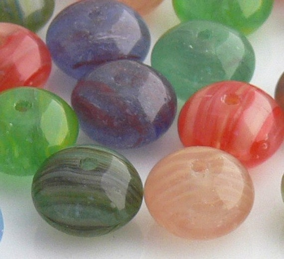 HURRICANE MIX, Czech Rondelle Beads, Glass Beads 25 - 9x6mm - Dollar Sale!