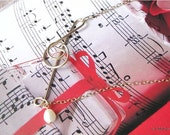 Romantic Music Note Necklace