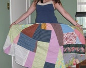 Custom Crazy Quilt Patchwork Skirt