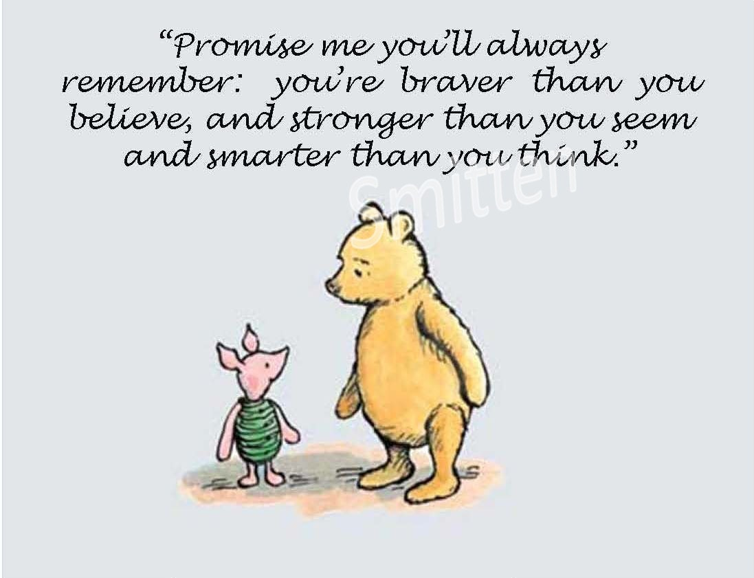 Winne The Pooh And Piglet Quote 4x6 Or 5x7 Art By