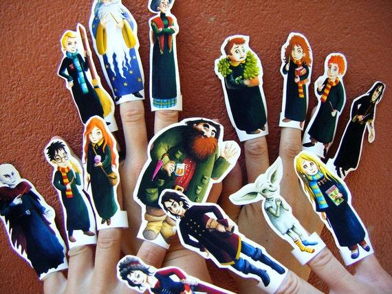 Harry Potter BIG SET of 15 finger puppets