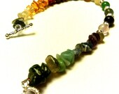 Gemstone and Sterling Chakra Spectrum Bracelet