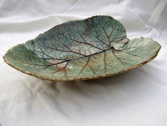 Saleserving Plate Ceramic Leaf Dish Burdock Leaf
