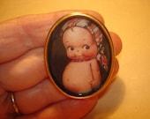 Kewpie Doll Brooch KL Design