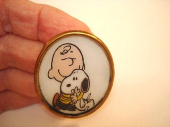 Charley Brown Snoopy Animal Vintage Jewelry  Brooch