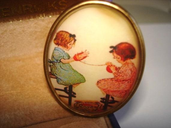 Vintage Children  Jewelry  Brooch KL Design