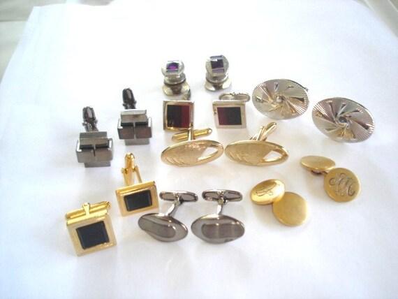 SALE Vintage Lot of 8 Pr Wearable Jewelry  Cuff links