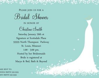 Bridal Shower Invitation - Bride