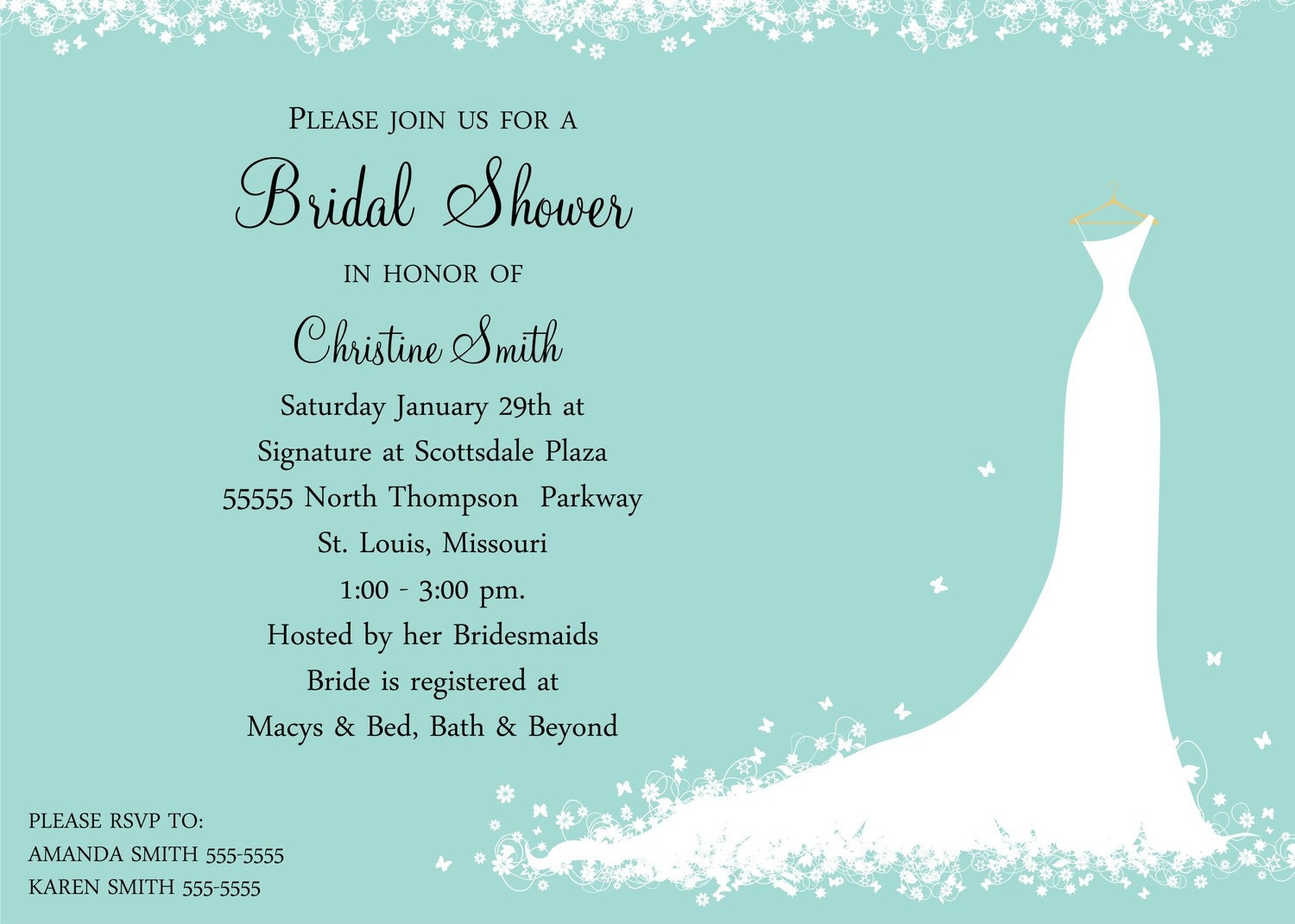 bridal shower invitation bride