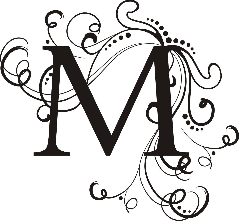 Wedding Monogram: Custom Swirl Wedding Monogram