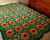 Crochet Sunflower Tablecloth