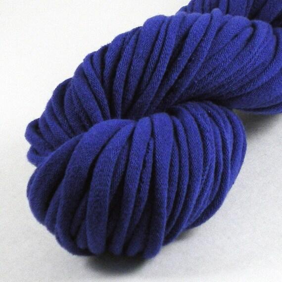 SALE Blue Recycled T-shirt Yarn