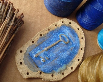 Blue Key Ceramic Start for Basketry