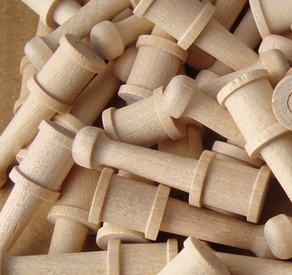 Turned Hardwood Pegs for Craft, Fairy Furniture Legs, Make Your Own Game Pieces, Dollhouse Furniture, Rubber Stamp Handles, Lot of 50