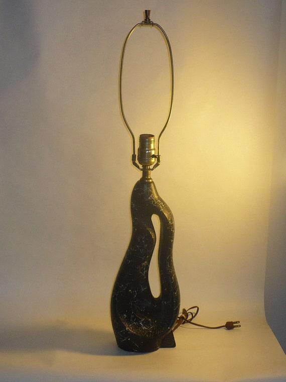 Vintage Black  Biomorphic Mid century  Lamp base