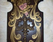 SALE/ REDUCED  Hand Painted Coat Rack  by MontanaRosePainter, One of a Kind
