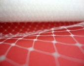 1 yard WHITE French Netting, Russian Bridal Veil, for Feathers Fascinator, birdcage veil.