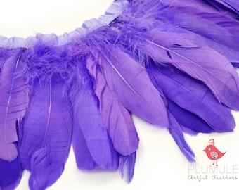 25-30 pcs - VOGUE GOOSE NAGOIRE feathers, Parfait, studio dyed, spectacular quality : 020