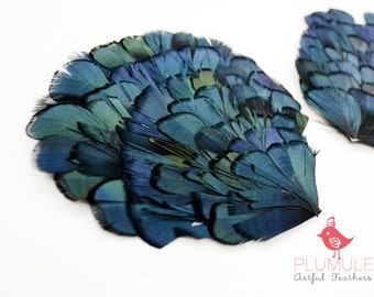 FEATHER PAD - Lady amherst, millinery supplies, DIY headband