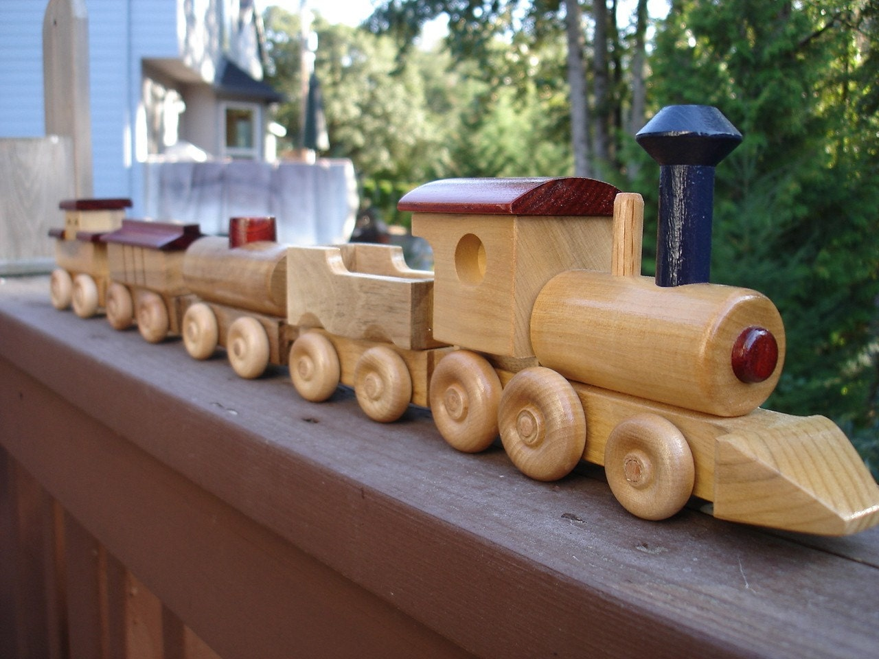 Wooden Toy Trains : Wood toy train etsy  ford price release