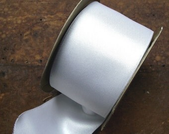Wide White Satin Bridal Ribbon 2.25 inches wide