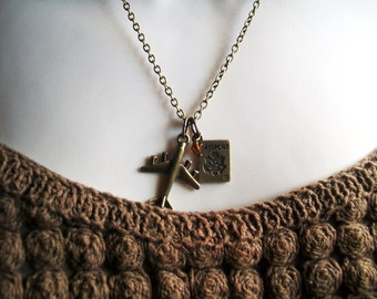 Airplane Passport Necklace. Airplane Necklace. Topaz Necklace. Pilot. Jetsetter. Air Force. World Traveler Necklace.