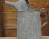 RESERVED FOR DEB vintage galvanized oil can watering can