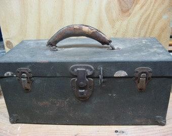 large vintage metal box