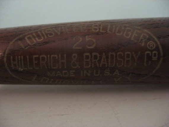 Vintage Louisville Slugger 25 Hillerich And Bradsby Baseball