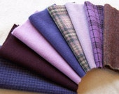 Hand Dyed Felted Wool in Purple for Applique, Penny Rugs, Sewing Projects / W1007 - Reserved For Lisa