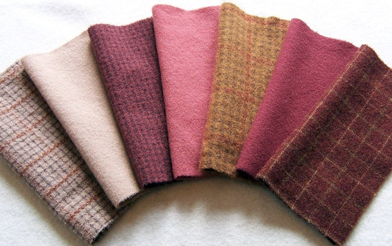 Felted Dyed Wool for Applique, Penny Rugs, Sewing Projects W839
